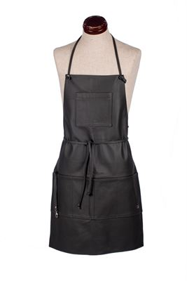 Leather Hobbyist Apron Steel Grey