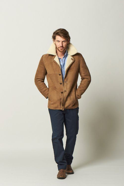 Classic Sheepskin Jacket Mojabe - Connor