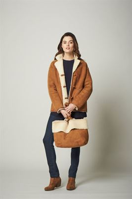 Classic Sheepskin Jacket Brandy Cream - Aubrey