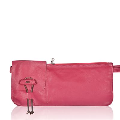 Leather Crossbody/Bum Bag Campari-Friar