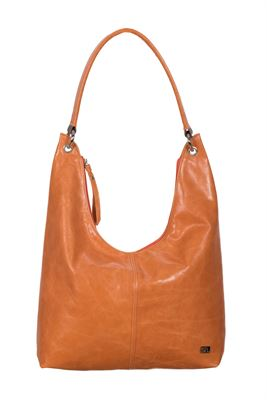 Leather Shoulder Bag Orange - Howlett