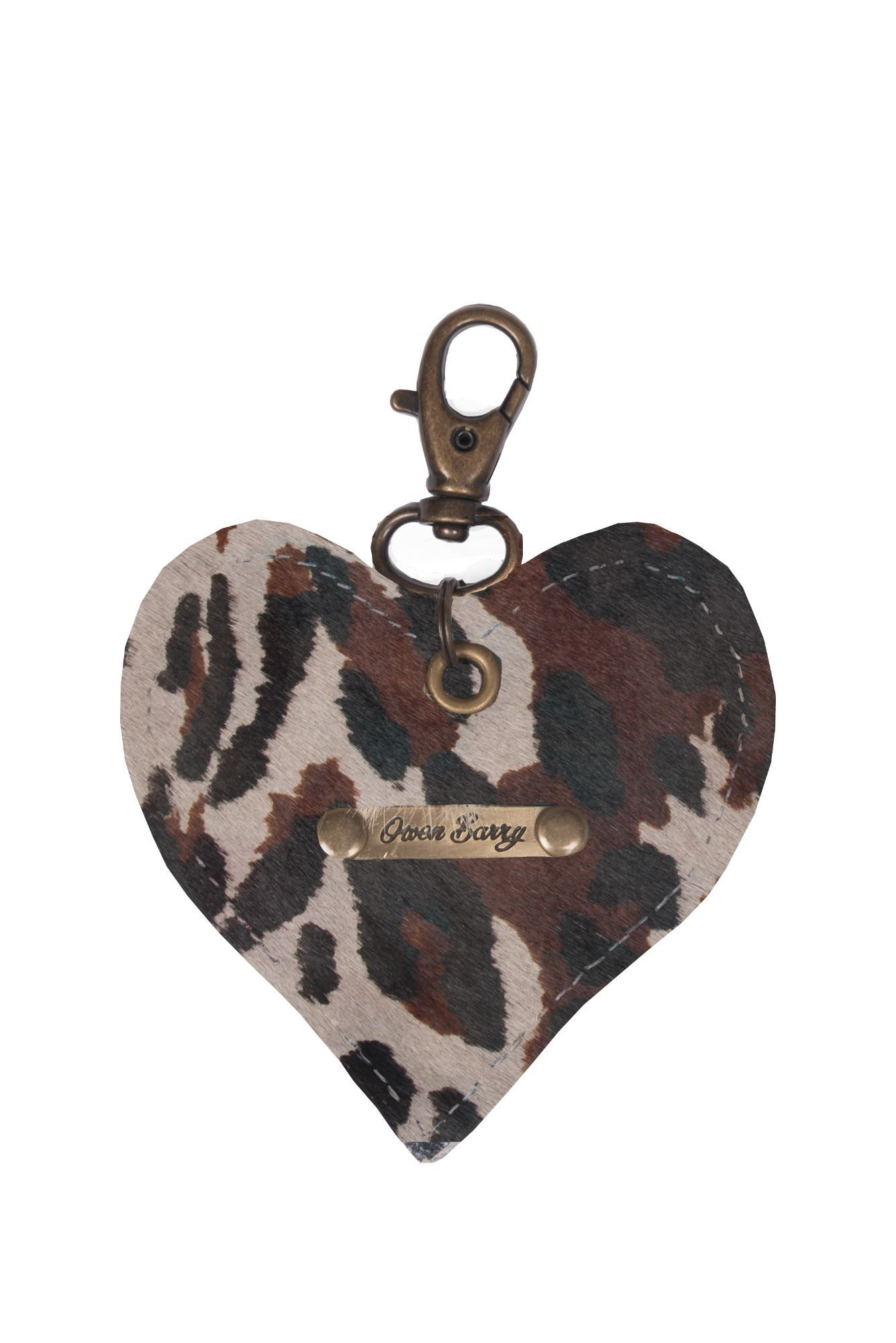 Cowhide Heart Keyring 70th Collection