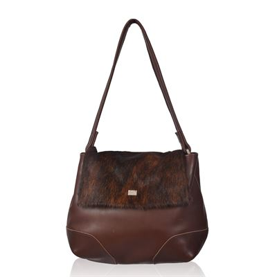 Cowhide Shoulder Bag Brindle - Bromley