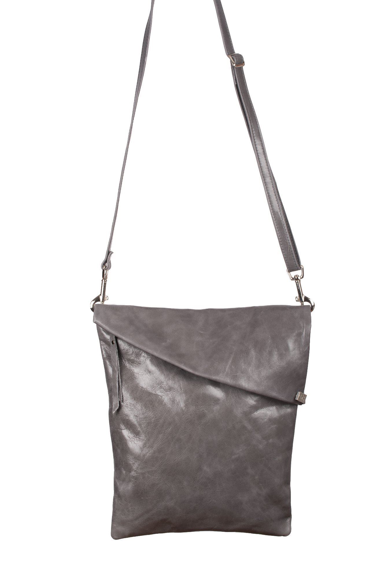 Leather Crossbody Bag Granite - Asherwood