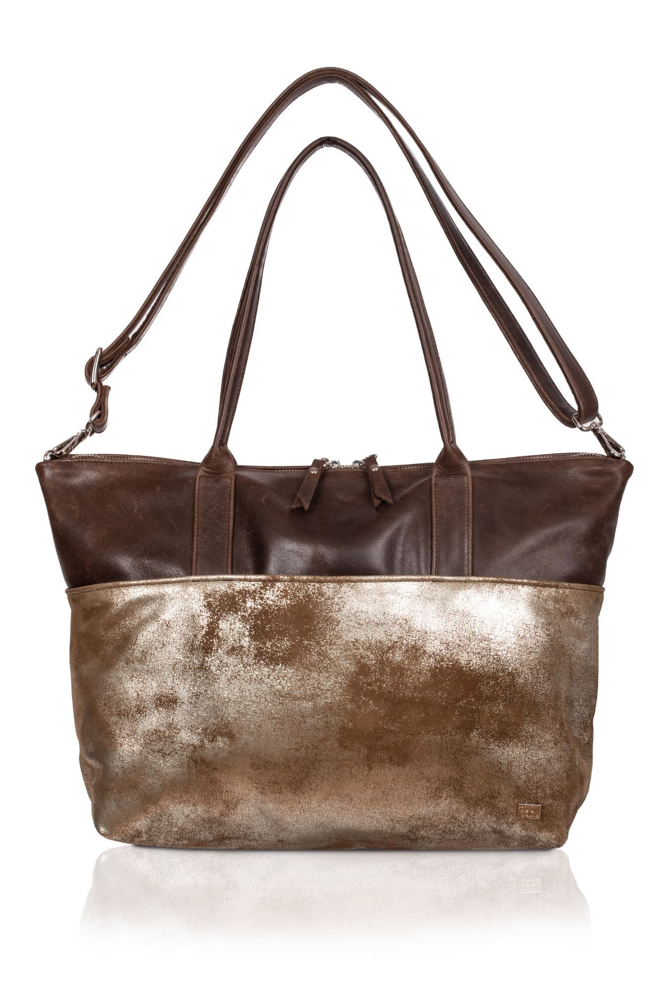 Leather Tote/Crossbody Bag Mermaid - Fibbel