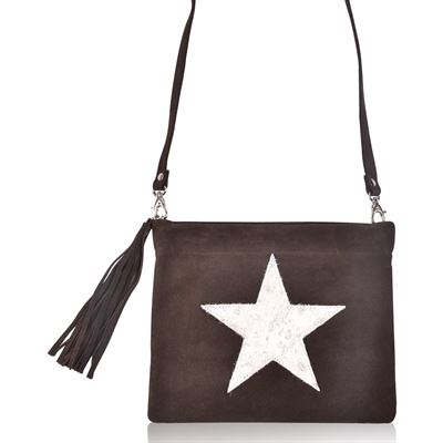 Suede Crossbody Bag Choc - Giley
