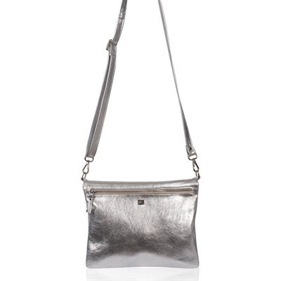Cowhide Crossbody/Clutch Silver Acido - Dusty