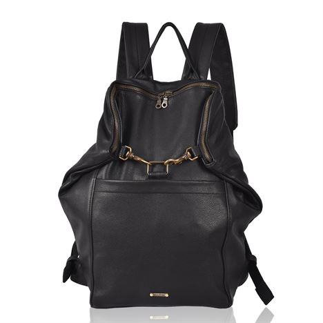 Leather Backpack - Scott Black