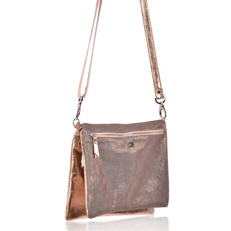 Leather Crossbody Bag - Dusty
