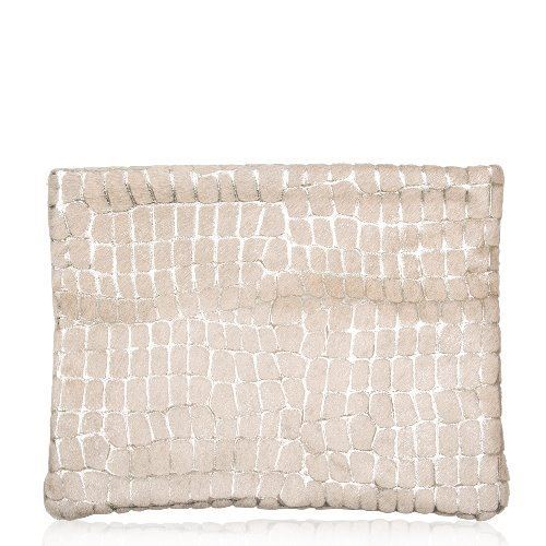 Cowhide Clutch Bag Gold Pebbles/Platino - Kings