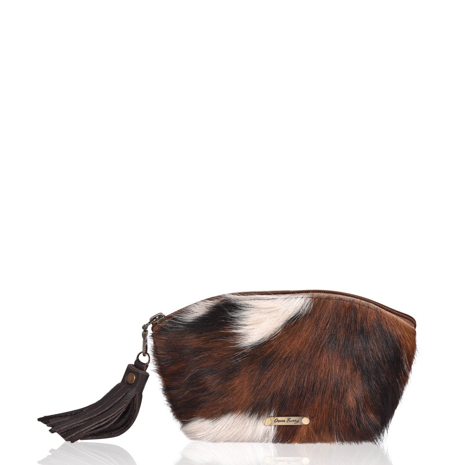 Cowhide Cosmetics Pouch - Boho Large