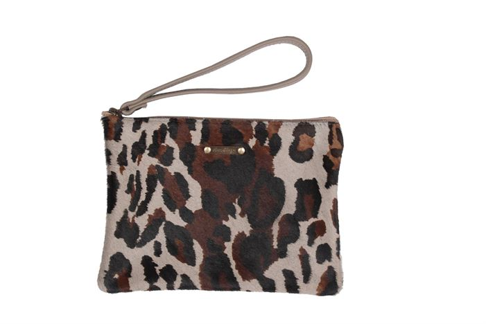 Cowhide Clutch Purse - Minnie