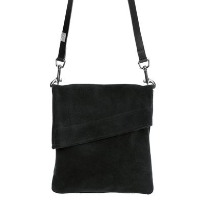 Suede Crossbody Bag Black - Z Top Sac Small
