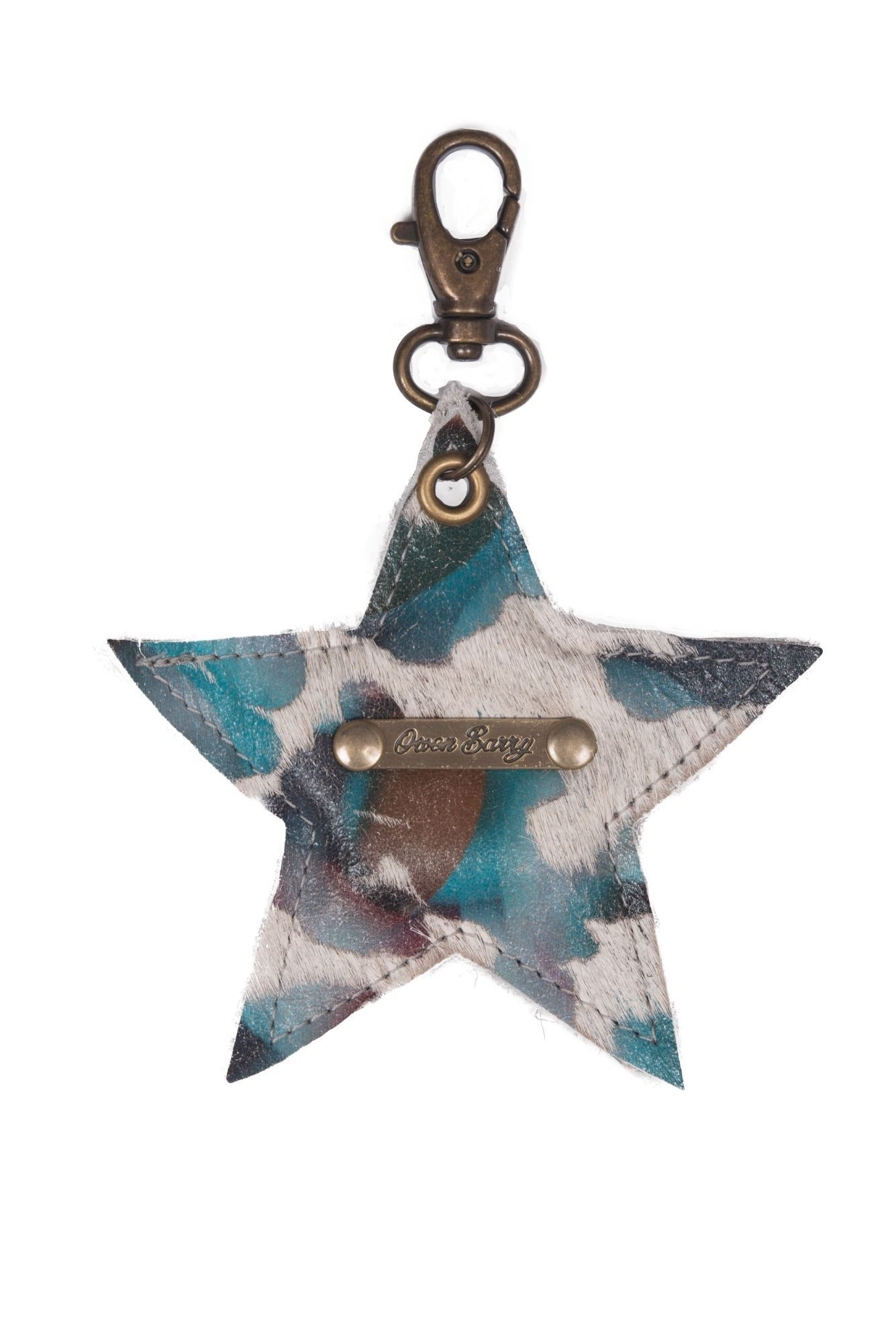 Cowhide Star Keyring 70th Collection