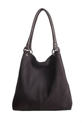 Suede Shoulder Bag Chocolate - Dudley