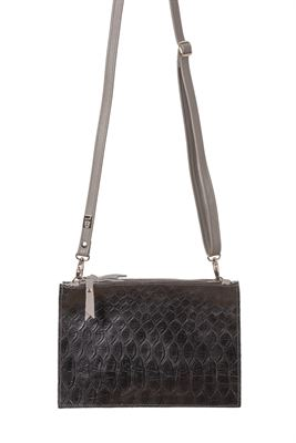 Leather Crossbody/Clutch Bag Croc - Thermus