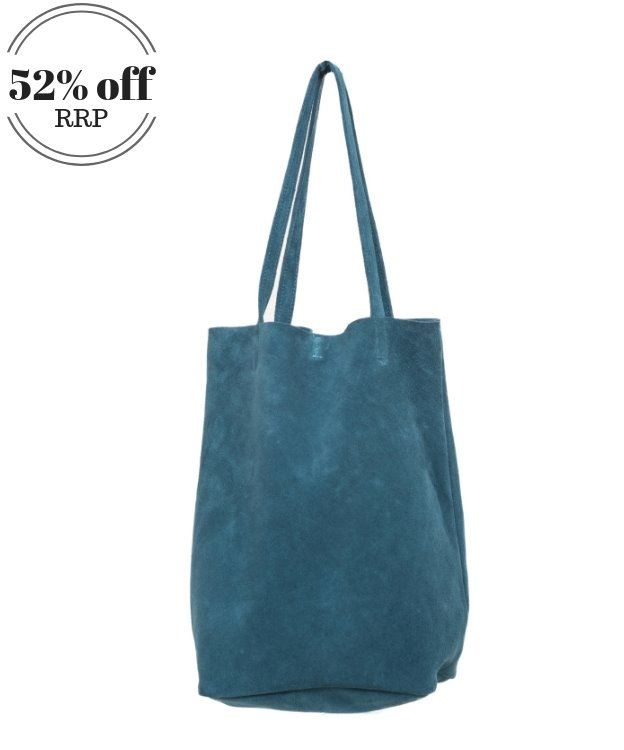 Suede Shoulder/Tote Bag Teal - Waddon