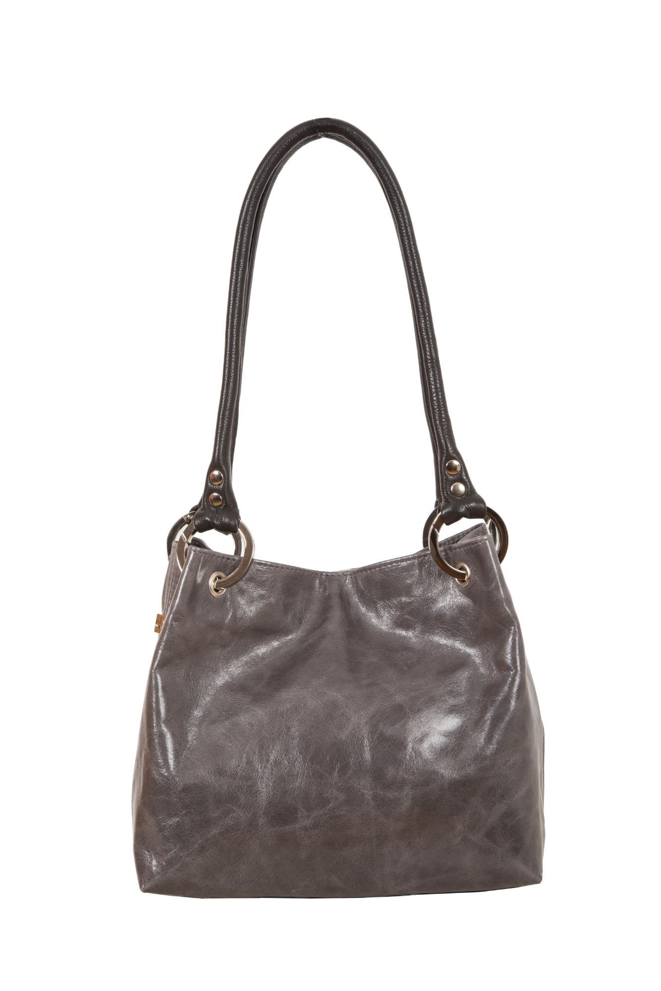 Leather Shoulder Bag - Pepsi