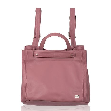 Leather Backpack/Shoulder Bag - Collins