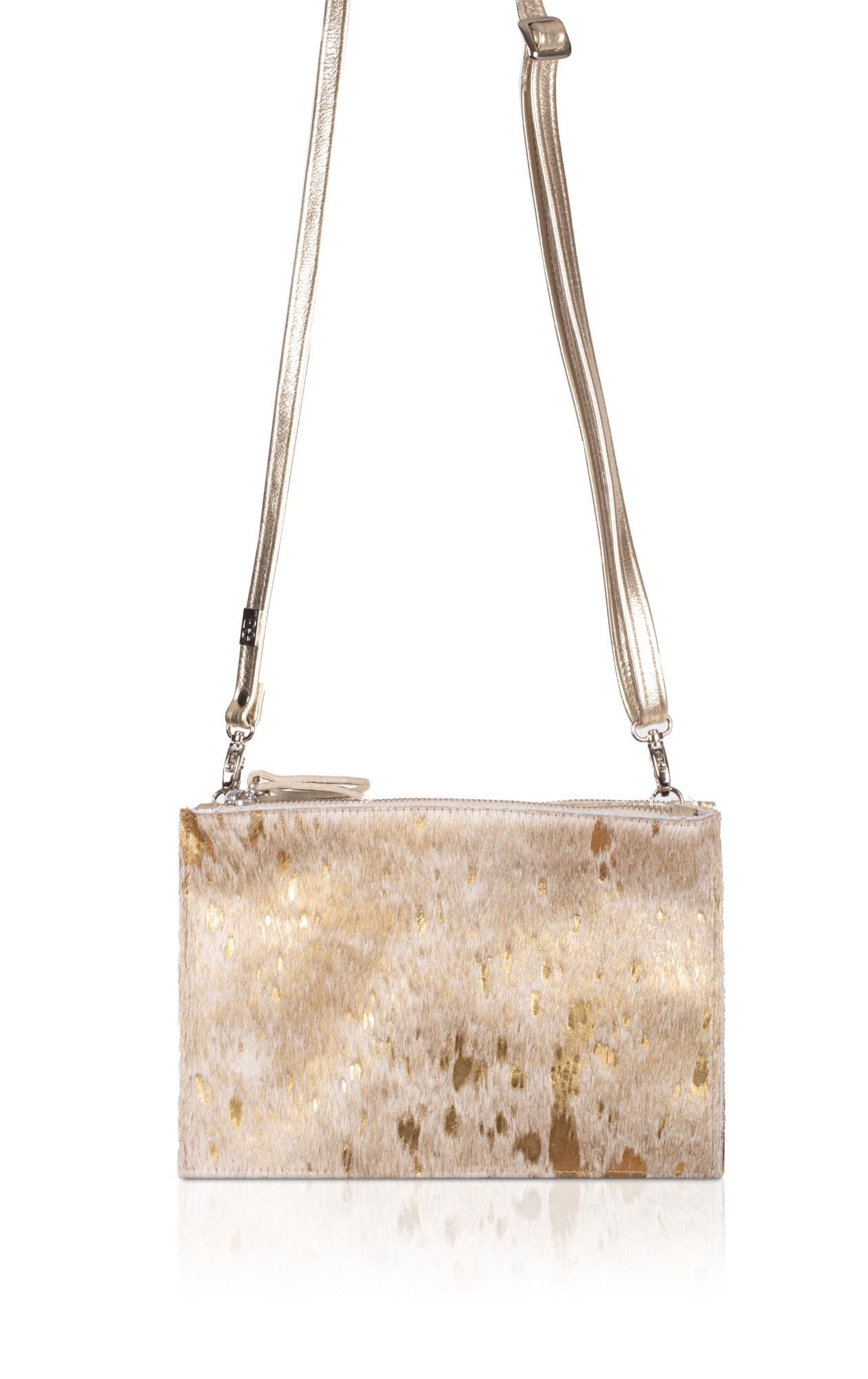 Cowhide Crossbody/Clutch Bag - Thermus