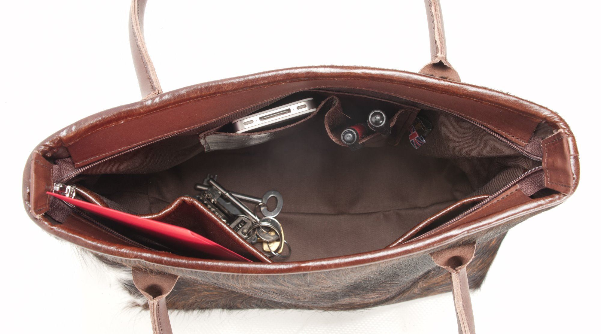 Cowhide Tote/Shoulder Bag Palomino - Hurdler P4