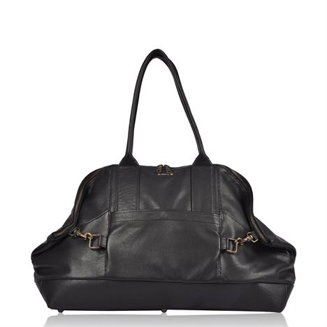 Leather Holdall - Fiennes Black