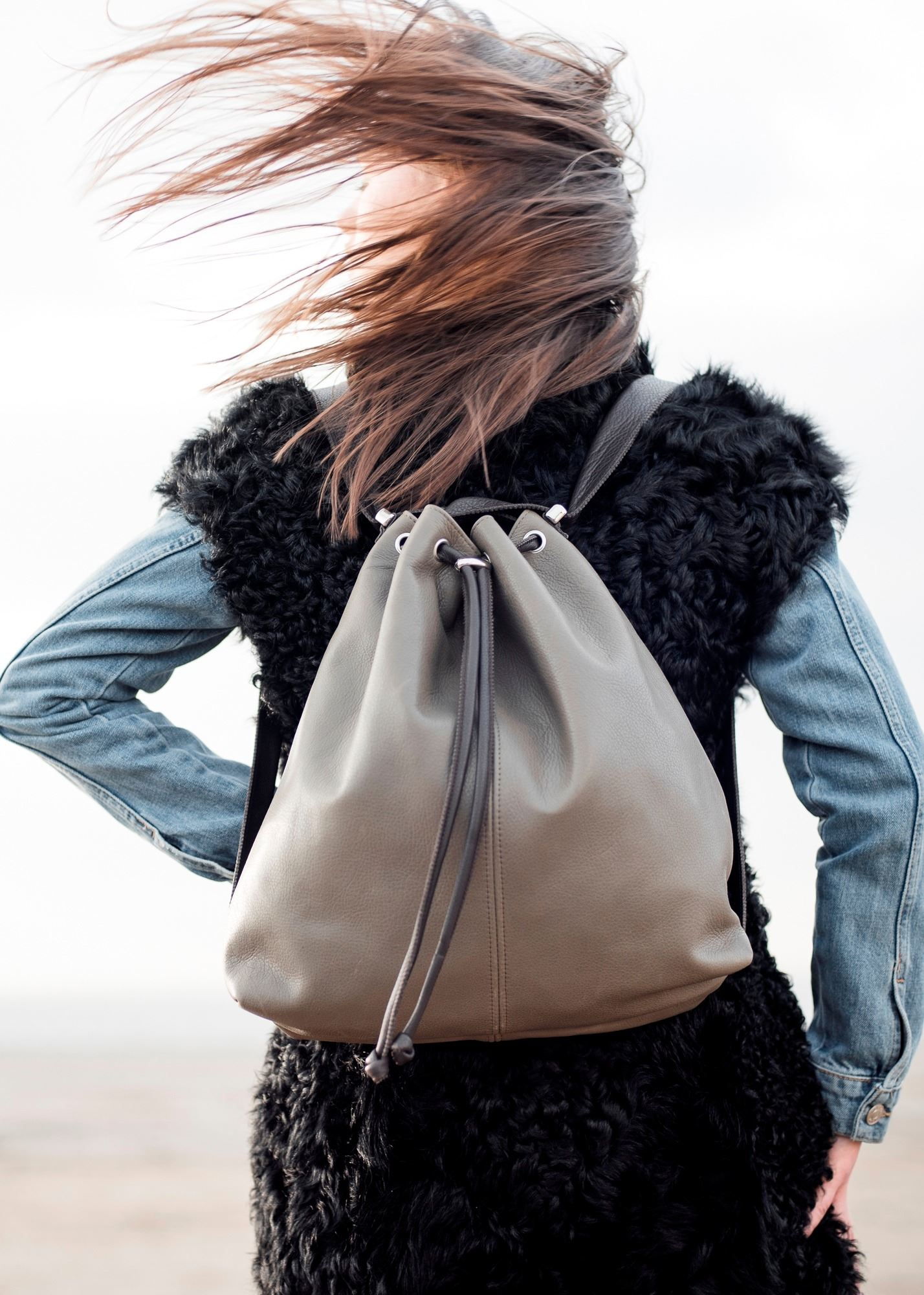 Mathilde clay backpack
