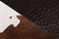 Large Cowhide Purse Brown Splash/Brown - Vermont