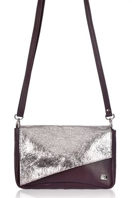 Leather Crossbody/Clutch Bag - Eazee