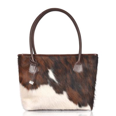 Cowhide Tote/Shoulder Bag Tricolour - Hurdler N7