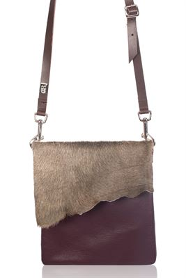 Cowhide Crossbody Bag Martini - Small Francine