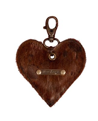 Cowhide Heart Keyring Rancho Acido