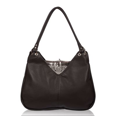 Leather Shoulder Bag Cocoa - Eugene RRP £195