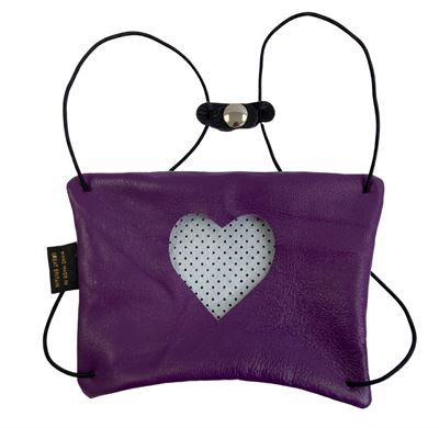 Leather Facemask Purple - Heart