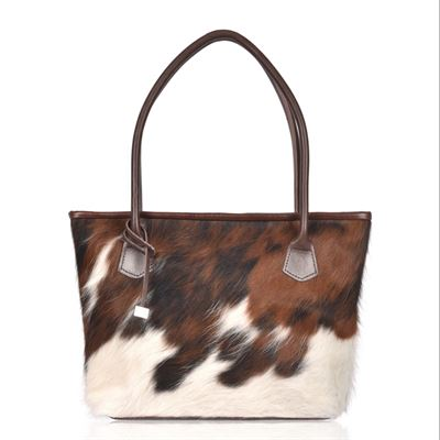 Cowhide Tote/Shoulder Bag Tricolour- Hurdler N18