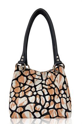 Cowhide Shoulder Bag - Pepsi