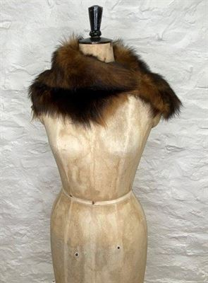 Sheepskin Button Scarf Muscat - Large Ailsa