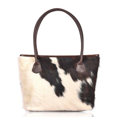 Cowhide Tote/Shoulder Bag Tricolour-Hurdler N14