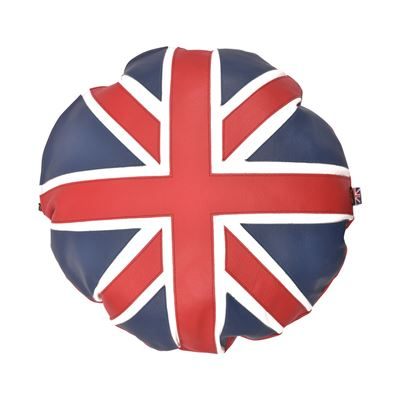 Leather Cushion Union Jack - Circular