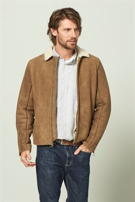 Curly Sheepskin Zipper Jacket - Bryce
