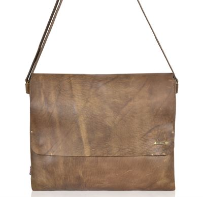 Leather Messenger Bag - Messenger