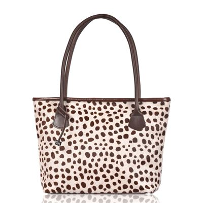 Cowhide Tote/Shoulder Bag Brown Ciga - Hurdler