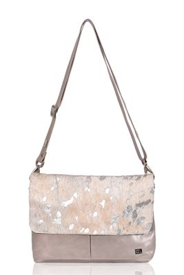 Cowhide Crossbody Bag Silver Acido - Dales
