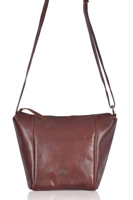Leather Shoulder/Crossbody Bag Mahogany - Charlton