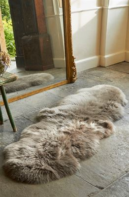 Luxe Sheepskin Rug Double Taupe