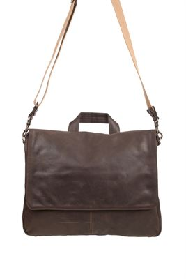 Leather Messenger Bag - DJ