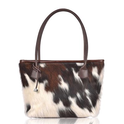 Cowhide Tote/Shoulder Bag Tricolour - Hurdler N8