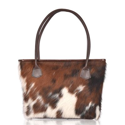 Cowhide Tote/Shoulder Bag Tricolour - Hurdler N6