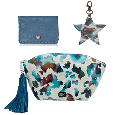Christmas Combo Deal Cowhide - Bora Blue