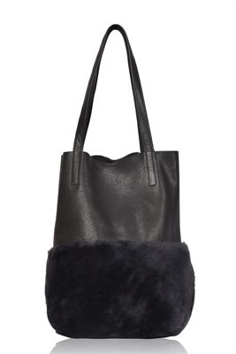 Sheepskin Leather Shoulder/Tote Bag - Waddon
